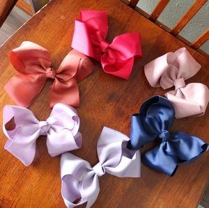 6 big hair bows